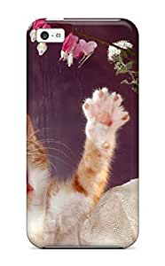 New Style ZippyDoritEduard Hard Case Cover For Iphone 5c- Cat By The Window