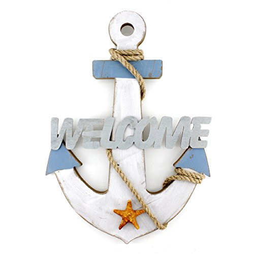 132x92-Wooden-Nautical-Anchor-Wall-Hanging-Ornament-Welcome-Sign-Plaque
