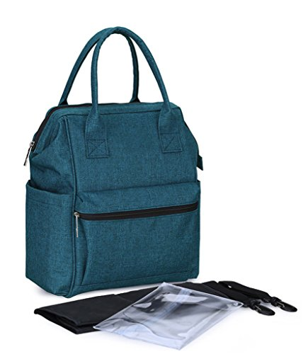 LCY Multi-function Unisex Baby Diaper Bag Backpack with Chan