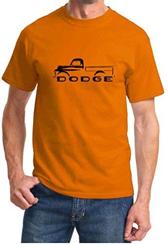 1948-53 Dodge B-Series Pickup Truck Classic Outline Design Tshirt large orange