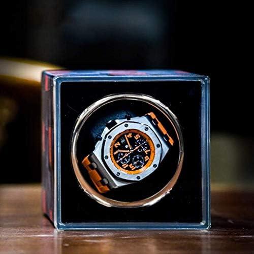 上げ機 自動ウォッチワインダーボックス機械式時計自動ウォッチボックスシングルシェイクテーブル装置、自動ストレージボックス 腕時計ワインディングマシーン