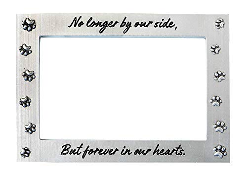 Fashioncraft No Longer By Our Side But Forever In Our Hearts Pet Memorial Picture Frame