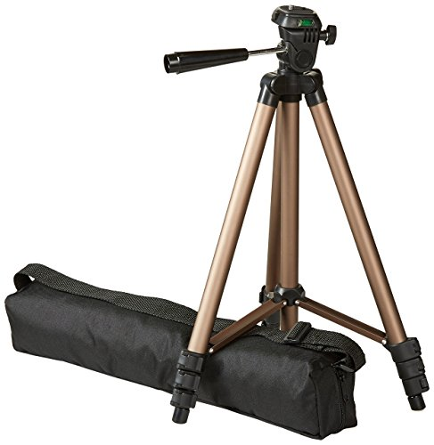AmazonBasics Lightweight Camera Mount Tripod Stand With Bag - 16.5 - 50 Inches (Best Travel Tripod For Mirrorless Camera)