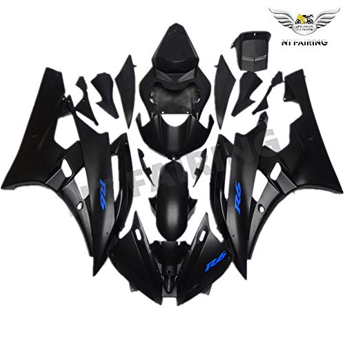 (NT FAIRING Matte Black Blue Injection Mold Fairing Fit for Yamaha 2006 2007 YZF R6 New Painted Kit ABS Plastic Motorcycle Bodywork Aftermarket)