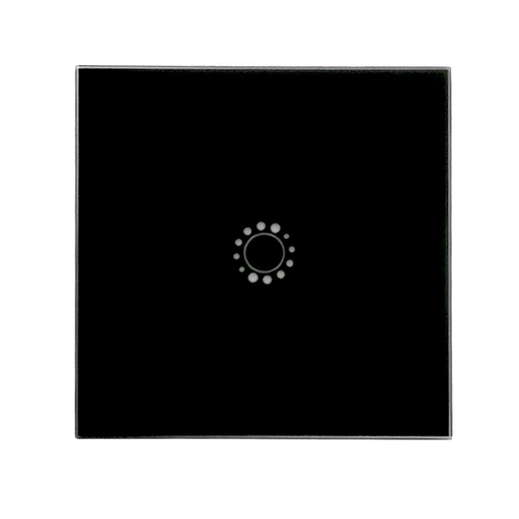 Light Switch Wifi Wall Switch Capacitive Hand Switch Wireless Remote Control Glass Smart Home (Black)