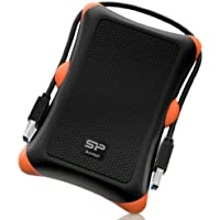 Silicon Power 500GB Rugged Armor A30 Shockproof Standard 2.5-Inch USB 3.0 Military Grade Portable External Hard Drive - Black (SP500GBPHDA30S3K)