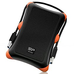 Silicon Power 1TB Rugged Armor A30 Shockproof Standard 2.5-Inch USB 3.0 Military Grade  Portable External Hard Drive,Black (SP010TBPHDA30S3K)