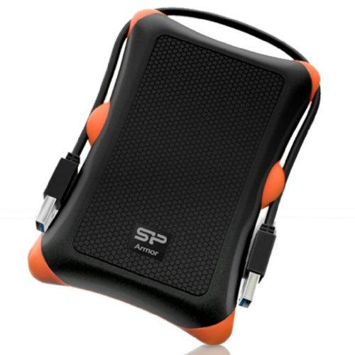 سیلیکون قدرت 500 گیگابایتی زره پوش A30 ضد ضربه استاندارد استاندارد 2.5 اینچی USB 3.0 قابل حمل درایو خارجی قابل حمل درجه نظامی - سیاه (SP500GBPHDA30S3K)