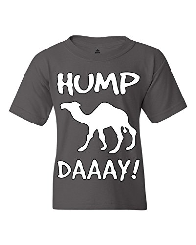 Camel Commercial HUMP DAY Youth's T-Shirt Funny Sayings Shirts Youth X-Small Charcoal