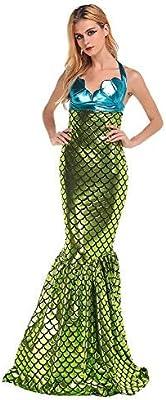 Disfraz de sirena para mujer - 2 piezas: 1 x top y 1 x falda ...