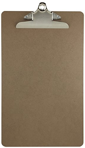 Trade Quest Legal Size Clipboard Standard Metal Clip Hardboard Single (Pack of (Legal Clipboard)