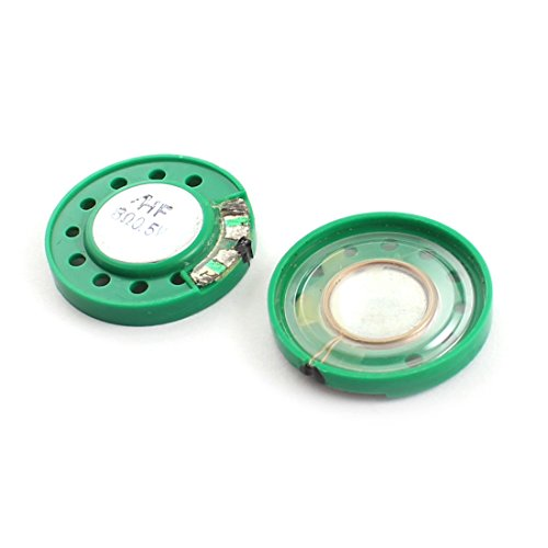 Aexit 2Pieces 0.5W 8 Ohm Magnetic Electronic Speaker Loudspeaker Green by Aexit