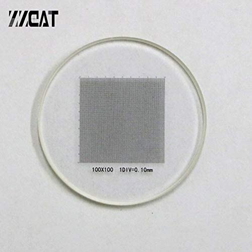 951 Optical Scale Glass Lens Cross Net Ruler DIV 0.1mm Grid Scale Value Precise Micrometer Ruler for Meticle Microscope Mercury/_Group Color:Diameter 20mm