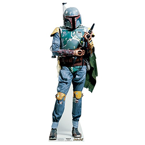 (Star Cutouts SC477 Official Star Wars Boba Fett Lifesize Cardboard Cutout)