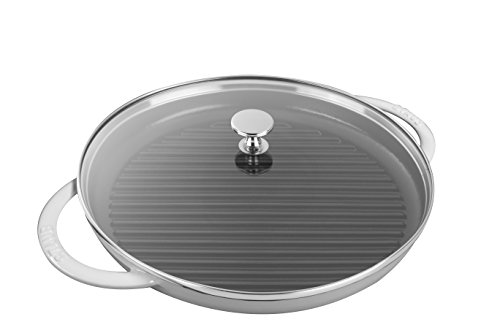 Staub 12042602 Cast Iron Round Steam Grill, 10-inch, White