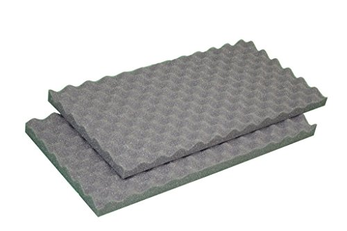 IZO All Supply 2x 24x18 Egg Crate Soundproofing Foam Acoustic Panel Great for Studio Foam and Packing Cushion Foam