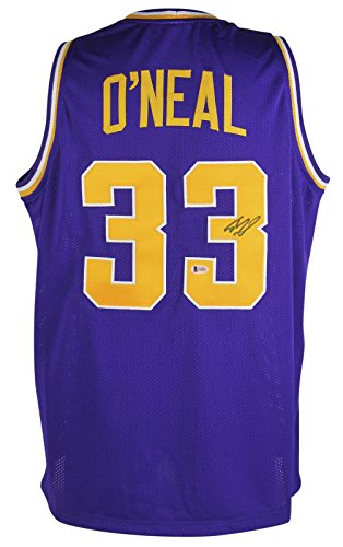 LSU Shaquille O'Neal Signed Purple Jersey Autographed BAS Witnessed - Beckett Authentication - Autographed College Jerseys