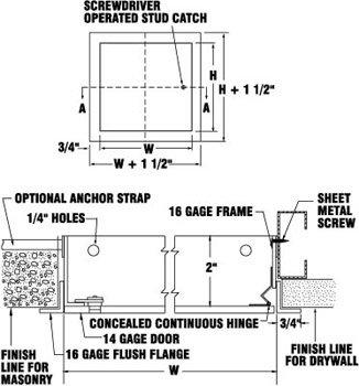 Karp DSC-214-M Universal Access Door 6 x 6