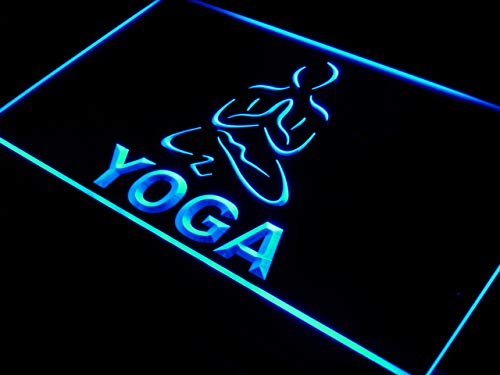 (ADVPRO Hot Yoga Fitness Center Open Training LED Neon Sign Blue 24 x 16 Inches)