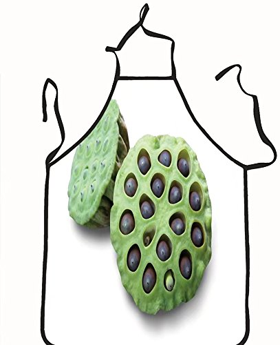 chanrancase tailored apron lotus seed pot lian zi the lotus seeds are us Children, unisex kitchen apron, adjustable neck for barbecue 17.7x26.6+10.2(neck) - Quiz Are Stylish You