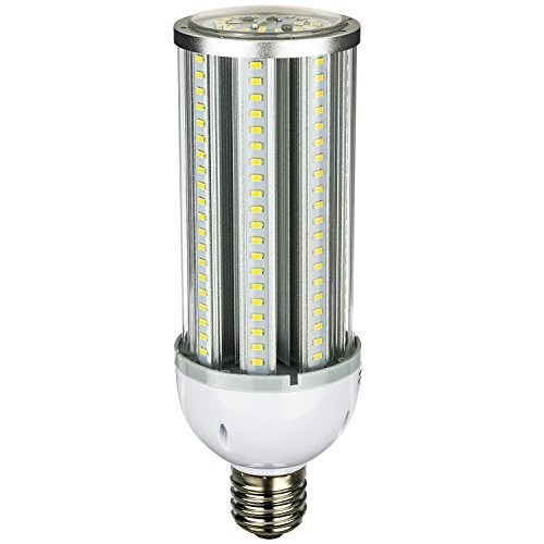 Sunlite CC/LED/45W/E39/MV/50K 5000K Mogul E39 Base Clear LED 175W MHL/HPS Equivalent Corn Light Bulb, Super White by Sunlite