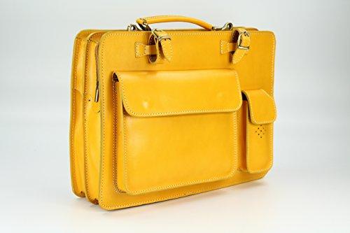 couleurs 29 Verona quot;Design enseignants Sac ital business nbsp;x cuir nbsp;x en jaune des nbsp;– unisexe 11 nbsp;Choix x amp;apos Sacoche nbsp;cm Belli T Bag x nbsp;39 nbsp;– H B wH5ZXt