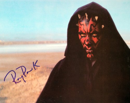 Ray Park Autographed 8x10 Postcard - Signed in Blue - Obtained In Person - As Darth Maul - Star Wars Episode I - Out of Print - Rare - Collectible from ABE