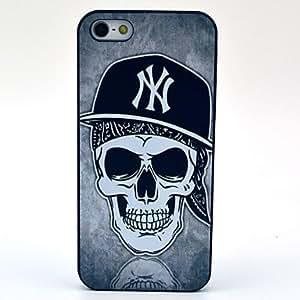 GONGXI- Modelo del cráneo Sombrero Negro duro caso para iPhone 5/5S