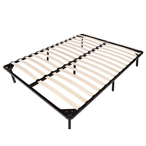 Homdox Bed Frames / Wooden Slats Support / Mattress Foundation / Platform Bed Frame / Box Spring Replacements (Queen Size)