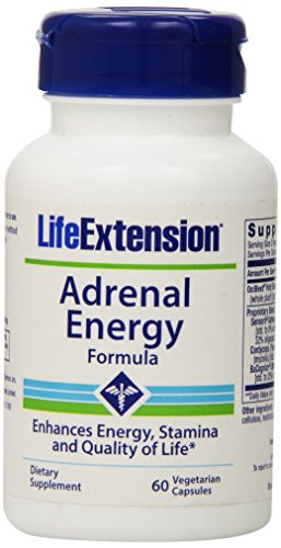 Life Extension Adrenal Energy Formula Vegetarian Capsules, 60 Count (Energy Support Formula)