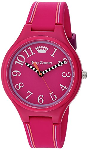Juicy Couture Women's Pink Silicone Strap Watch - 9