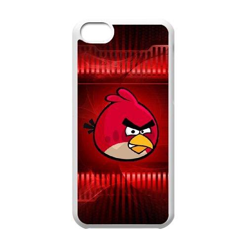 Angry 011 coque iPhone 5c cellulaire cas coque de téléphone cas blanche couverture de téléphone portable EEEXLKNBC26878