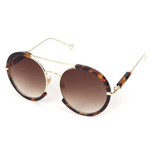 3 diseño Gafas vintage de marco JAGENIE medio redondas sol 6 pAUxIp8wPq