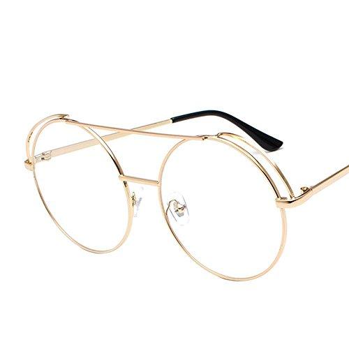 Aoligei Métalliques doubles Liang Frame lunettes de soleil, les couples hommes et femmes en miroir plat couleur film océan lunettes de soleil mode H