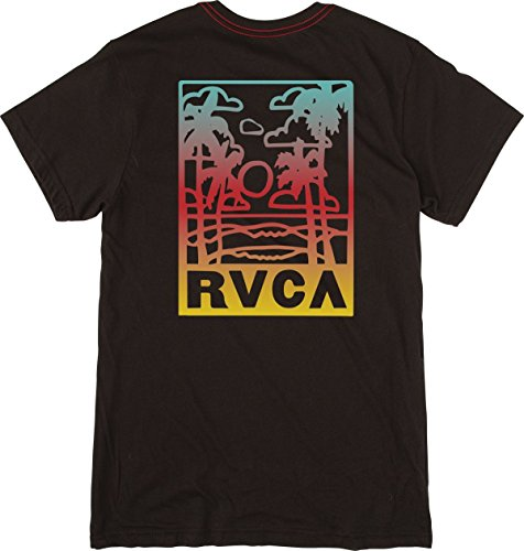 RVCA Men's Couple Fun Ones Short Sleeve T-Shirt, Black, M by RVCA