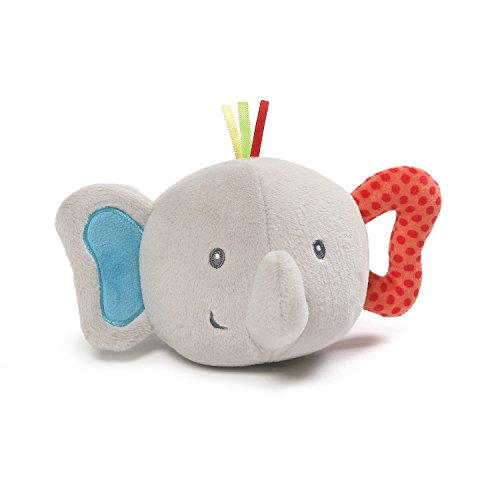 (Gund Baby Flappy Elephant Silly Sounds Light Up Plush Ball, Gray, 6