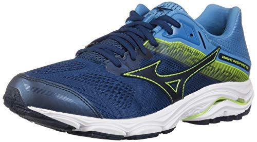 Mizuno Men's Wave Inspire 15 Running Shoe Blue Wing Teal-Dress Blue, 11.5 D US