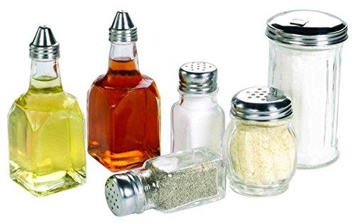 (Deluxe 6pc Set 2 Oil/Vinegar Bottles, Cheese Shaker, Sugar Dispenser, and Salt and Pepper Set)