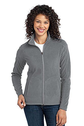 Port Authority Women's Microfleece Jacket L Pearl Grey