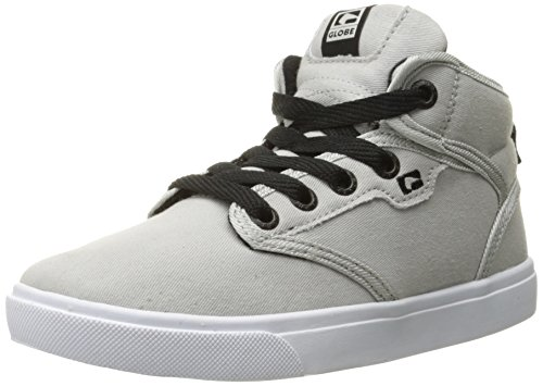 Globe Kids Motley Mid Skateboarding Shoe (Little Kid/Big Kid), Light Grey, 3 M US Little Kid (Womens Globe Shoes)