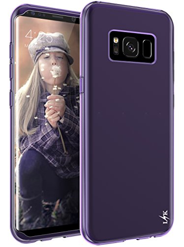 Galaxy S8 Plus Case, LK Ultra [Slim Thin] Scratch Resistant TPU Rubber (Purple Silicone Skin Case Cover)