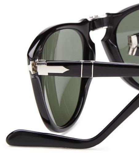 de Negro Persol Mod Green 57 Gafas Sol Black 24 0714 Grey 5q50xArng