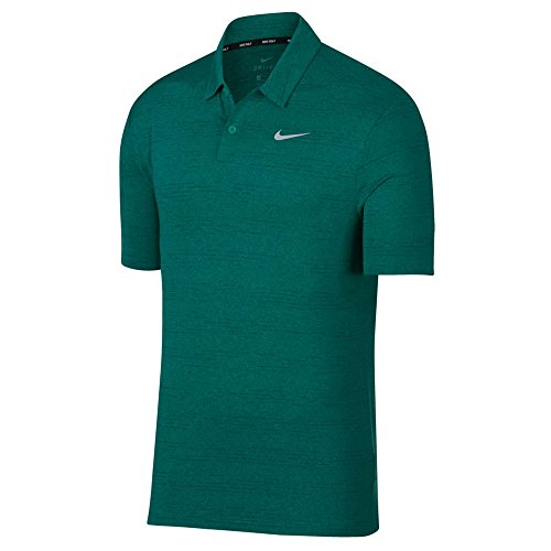 Nike Dry Heather Texture Golf Polo 2018 Neptune Green/Rainforest/Flat Silver ()