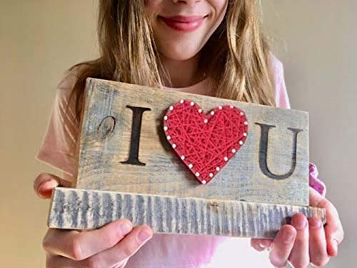 I love you string art gift sign. Great Valentine s Day or Anniversary gift. By Nail it Art. I love you gifts.