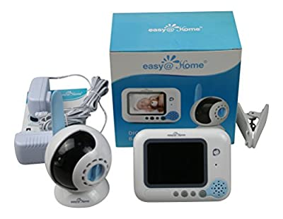 Easy@Home Wireless Digital Video Baby Monitor with 3.5-Inch Full color TFT LCD Screen and Infrared Night Vision