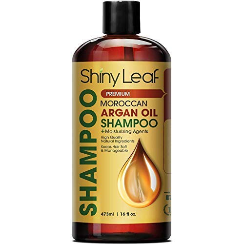 Moroccan Argan Oil Shampoo – Premium Salon Quality Sulfate Free Shampoo for Hair Loss Treatment, Thickens, Strengthens All Hair Types, Leaves Hair Smooth, Huge 16 oz (473 ml) ()