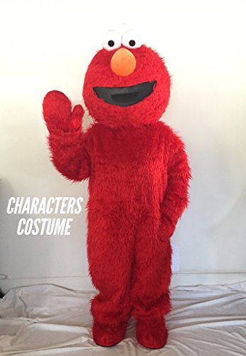 Red Elmo Mascot Costume Halloween Costumes Chirstmas Party Adult Size Fancy - Hand Plush Puppet Ernie