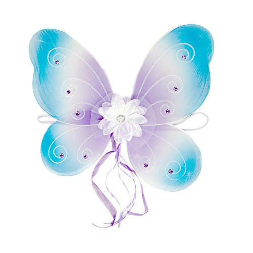 Cutie Collection Blue and Purple Jeweled - Princess Jeweled Wings Fairy
