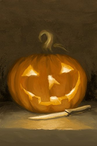 Jack-O-Lantern - Halloween Oil Painting (9x12 Art Print, Wall Decor Travel Poster)