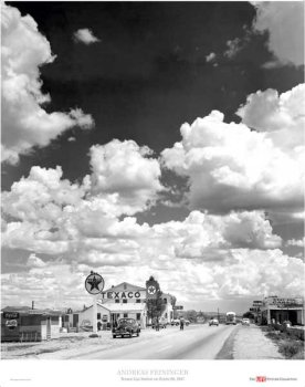 Texaco Gas Station on Route 66, Arizona, Art Poster by Andreas Feininger Route 66 Gas Stations